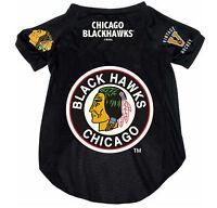 NEW CHICAGO BLACKHAWKS PET DOG HOCKEY JERSEY THROWBACK VINTAGE LARGE BLACK