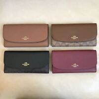 NEW Coach Signature PVC Leather Checkbook Wallet F16613 F57319 F54022