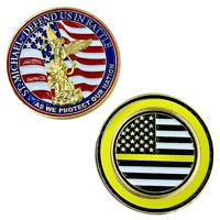 "SAINT MICHAEL POLICE DEFEND US  DISPATCHER 1.75"" CHALLENGE COIN"