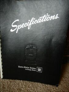 VINTAGE RARE GENERAL MOTORS SW1001 SWITCHING LOCOMOTIVE SPECIFICATIONS MANUAL