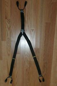 Men's Adjustable Black Diamond Suspenders Braces 1 3/8 inch Made in England