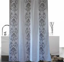 Stylish grey damask white fabric shower curtain 1.8m new free shipping