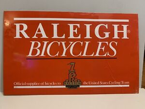 "Real Vintage Raleigh Bicycles Plastic Sign 14.5"" x 24"""