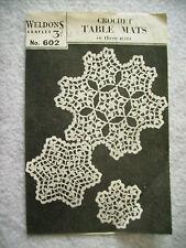 vintage lacy place mats table mats crochet pattern glass place mats centrepiece