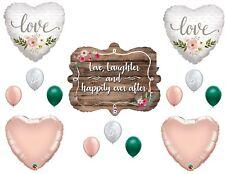 Wedding Rustic Boho Bridal Shower Balloons Decoration Supplies Rose Gold Sign