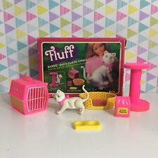 Vintage 1980s Barbie Fluff Barbie Dolls Cuddly Kitten Set Mattel 5524