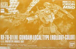 BANDAI HG 1/144 RX-78-01[N] GUNDAM LOCAL TYPE ROLLOUT COLOR Model Kit Gundam NEW