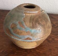 Signed Weedpot Pottery Vase Bowl Ceramic Stoneware