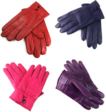 New High Quality Genuine Super Soft Leather Ladies Gloves Fleece Lined Warm