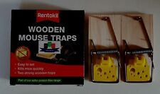 Rentokil Wooden Mouse Traps (Twin Pack) - New And Boxed