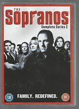 THE SOPRANOS - COMPLETE SERIES 2 - UK R2 DVD SET - mint condition - new/unplayed