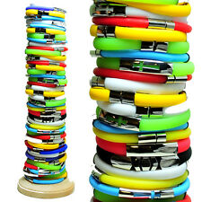 Wholesale Pack 44pcs Rubber & Stainless Steel Bracelet w/ Cross Assorted Colors