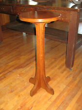Oak Pedestal Fern Plant Stand #267 Charles Limbert Furniture Arts& Crafts Signed