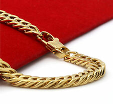"""14k Gold Plated Stainless Steel Heavy Thick Hip Hop 9mm 30"""" Cuban Chain Necklace"""