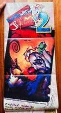 Earthworm Jim 2 Nintendo Power Poster Authentic Magazine Donkey Kong 2 Vol 79
