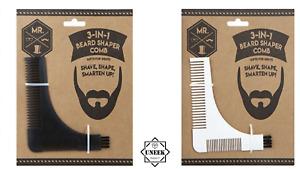 BEARD SHAPING COMB & BRUSH MEN LINER SHAPETool Trimming Hairstyle PMS721055 UK