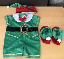 In Character Kids Toddler Christmas Elf Costume Santa Helper Sz Medium 1-2 Yrs