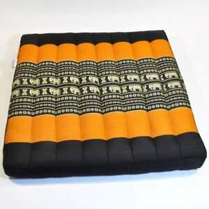 Outdoor Sitzkissen KOH Samui 50x50 cm RM Design Original Thaikissen mit Kapok F/üllung Auflage Yogakissen in braun beige