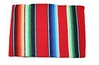 Extra Large New Red Genuine Mexican Sarape Hot Rod Blanket Rug Picnic