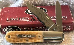 Vintage Case XX 620091/2 Limited Edition 1 of 2500 2 Blade Bone Pocket Knife