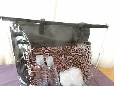 Modella Fashion Forever 6 piece Clear Tote Bag Set