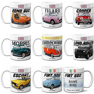 Personalised Car Mug Classic Cup Motor Garage Mechanic Birthday Christmas Gift