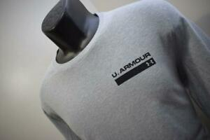 Under Armour Gym Shirt HeatGear Loose Gray Long Sleeve Tee Mens Size Small