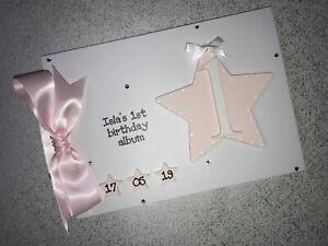 Personalised 1st Birthday Memories Scrapbook Photo Album Gift