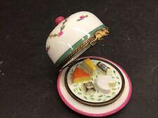 Exclusive Destieux Chamart Limoges Trinket Box - Cheese Platter Under Dome