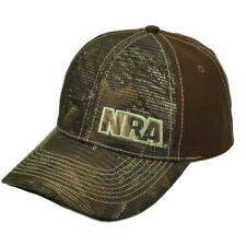 National Riffle Association NRA Realtree Brown Hat Cap Adjustable Gun Mesh Panel