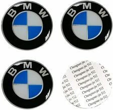Centro de aleación 4x Adhesivo BMW Rueda Cap Hub Pegatinas 65mm 1 3 serie 5 Negro/Azul