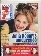 TELE 7 JOURS 2021 (20/2/99) JULIA ROBERTS LARA FABIAN CELINE DION C. LAMBERT