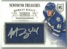 2013-14 Panini National Treasures MORGAN RIELLY LEAFS AUTO ROOKIE JERSEY RC /50