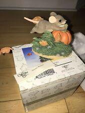 Charming Tails Autumn Breezes Mouse Pumpkin 85/501 w/ Box