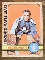 1972-73 OPC O PEE CHEE HOCKEY #92 JACQUES PLANTE NM TORONTO MAPLE LEAFS CARD