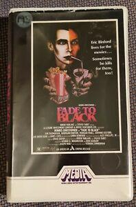 FADE TO BLACK 80s Horror Comedy MEDIA Video BETA Mickey Rourke VIDEO CLASSICS
