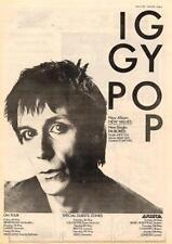 Iggy Pop UK Tour advert 1979