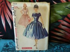 1950s Simplicity Dress sewing pattern 1414 13/31 bust