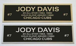 Jody Davis nameplate for signed autographed baseball jersey photo glove bat
