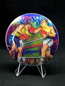 Muhammad Ali/Joe Frazier boxing pin/no clasp wi/display stand-Cool Collectible