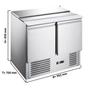 Saladette / Kühltisch ECO - 0,9 x 0,7 m - mit 2 Türen