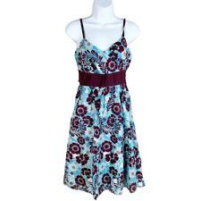 Derek Heart Women Dress, NEW Empire Hawaiian Floral Sleeveless Sundress, Size M