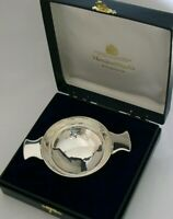 SCOTTISH CASED SOLID STERLING SILVER WHISKY CUP QUAICH CUP 1997 84g