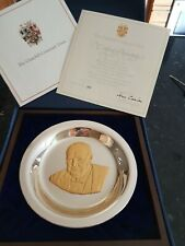 More details for winston churchill  hallmarked silver plate in display frame. box certificate