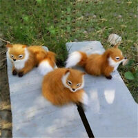 Realistic Small Fox Stuffed Animal Soft Plush Kids Toy Sitting Fox Home Decor