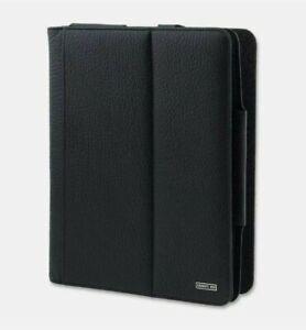 "Cerruti 1881 Maddison Black Leather Foldable iPad Case iPad 1/2/3/4/Air 1/2 9.7"""