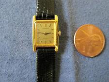 #679 ladys LASALLE  tiny gold plate quartz watch