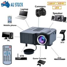 1080P Full HD Mini LED LCD Portable Projector Home Cinema Theater HDMI USB AV SD