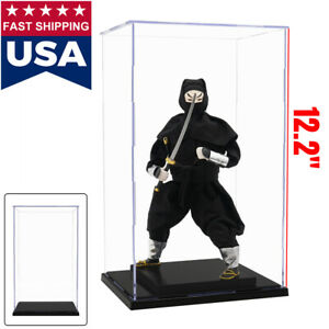 """US 12""""H Acrylic Display Case Plastic Self-Install Box Protection Toys Dustproof"""
