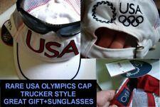 2004 ATHENS ROOTS SUMMER OLYMPICS USA TEAM BASEBALL CAP/HAT + BONUS SUNGLASSES